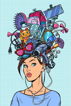 Gedachten moderne vrouw concept