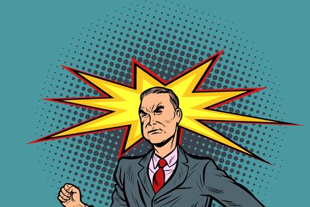 man headache medicine and health. Pop art retro vector illustration vintage kitsch