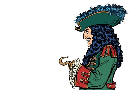 pirate avec la main de crochet