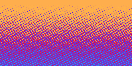 orange blue gradient halftone background. Pop art retro vector illustration kitsch vintage