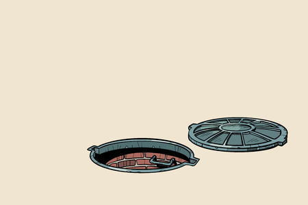 round open sewer manhole