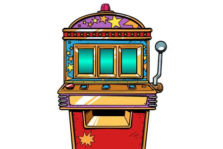 slot machine bandito con un braccio solo. Pop art retrò illustrazione vettoriale vintage kitsch