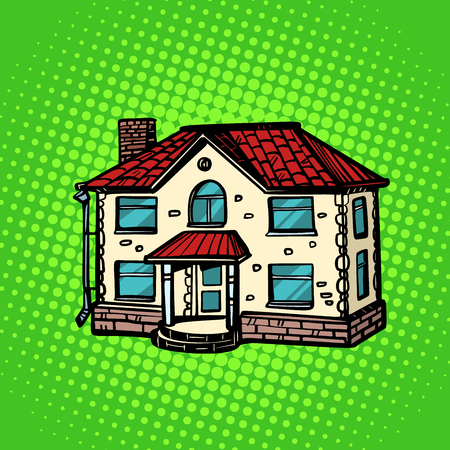 house real estate. Pop art retro vector illustration drawing kitsch vintage Stock Vector - 117618246