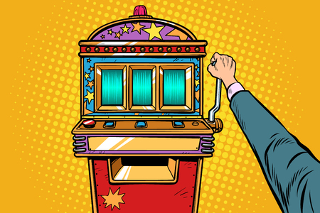 one-armed bandit slot machine. Pop art retro vector illustration vintage kitsch Stok Fotoğraf - 124789325