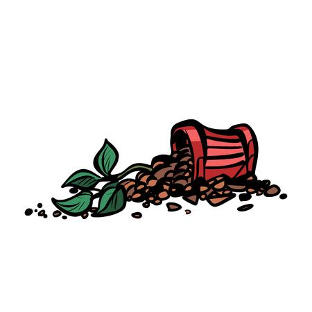 indoor plant in a pot is broken. Pop art retro vector illustration vintage kitsch