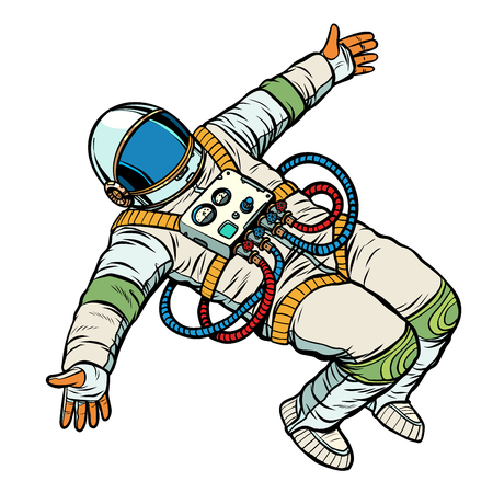 astronaut wants a hug. Pop art retro vector illustration kitsch vintage