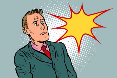 zakenman verrast in shock. Popart retro vector illustratie vintage kitsch 50s 60s Vector Illustratie