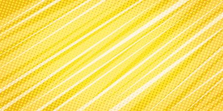 sfondo astratto lineare giallo. Pop art retrò illustrazione vettoriale vintage kitsch Vettoriali