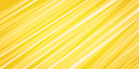 yellow linear abstract background. Pop art retro vector illustration vintage kitsch