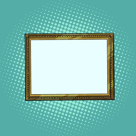 marco de fotos, patrón en blanco