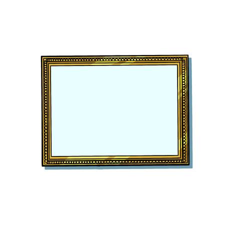 picture frame, blank pattern Illustration