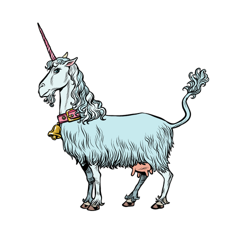 goat unicorn, a fabulous animal