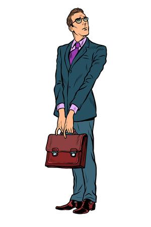 businessman with a business briefcase. Pop art retro vector illustration vintage kitsch