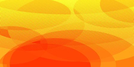 sfondo giallo cerchi rossi. Pop art retrò illustrazione vettoriale vintage kitsch Vettoriali