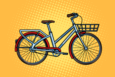 city bike, green transport, sports and health. Pop art retro vector illustration vintage kitsch