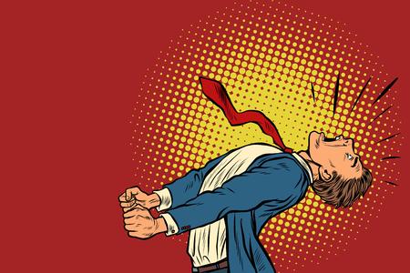 empresario de pánico gritando. Ilustración de vector retro pop art kitsch vintage Ilustración de vector