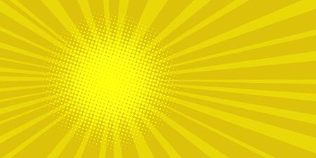 pop art sun background retro vector illustration drawing Illusztráció