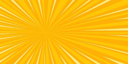 pop art sun background retro vector illustration drawing Illustration
