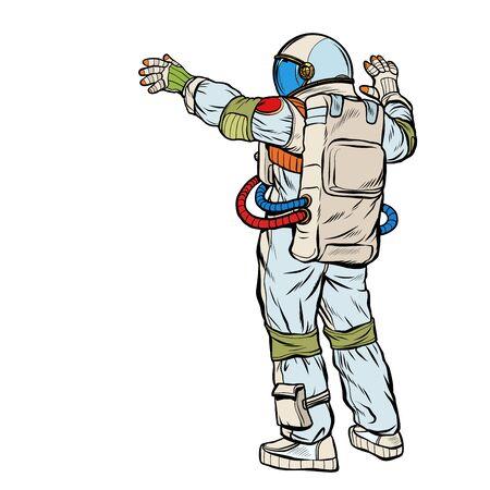 astronaut opened his hands  イラスト・ベクター素材