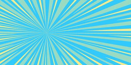 blue rays pop art background retro vector stock illustration drawing
