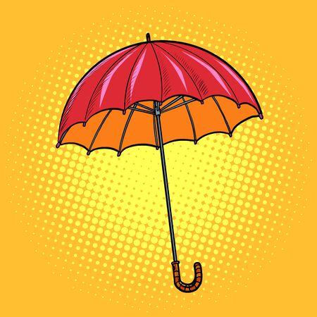 red umbrella. autumn accessory. Pop art retro vector illustration drawing 일러스트