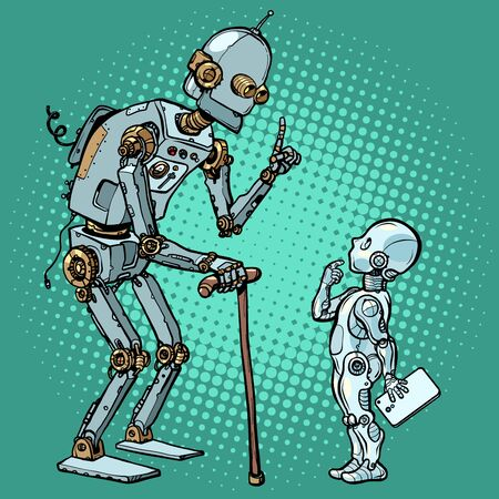 old and new robot