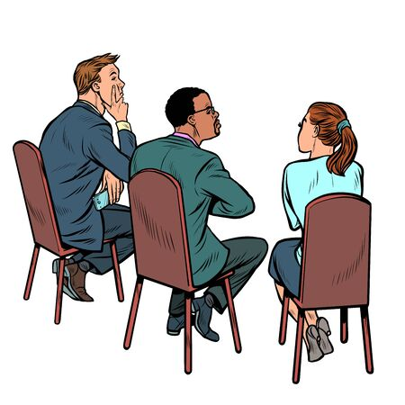 people at a business meeting. businessman and businesswoman. multi-ethnic group