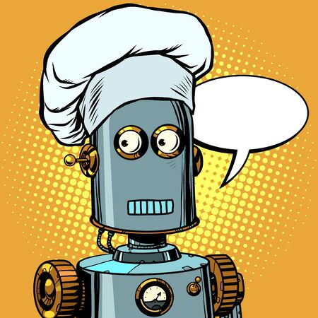 Robot cook food, takes orders at the restaurant Ilustrace