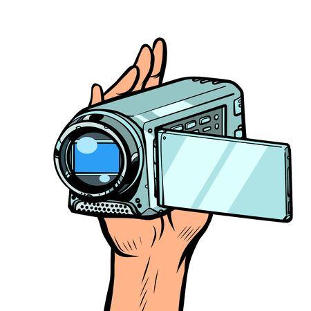 portable hand-held video camera Illustration