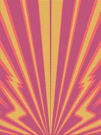Red yellow background. Pop art retro vector illustration 50s 60s style  イラスト・ベクター素材