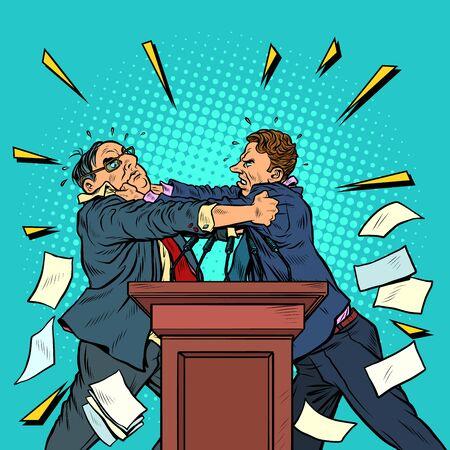 politicians fight, political debates