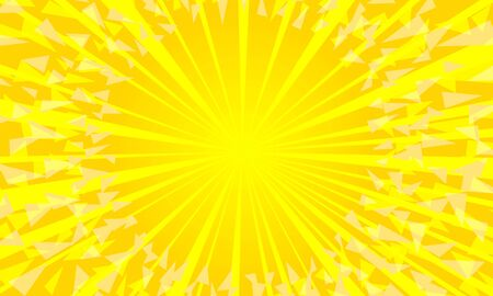 yellow background with sun rays. Pop art retro vector illustration kitsch vintage 50s 60s style
