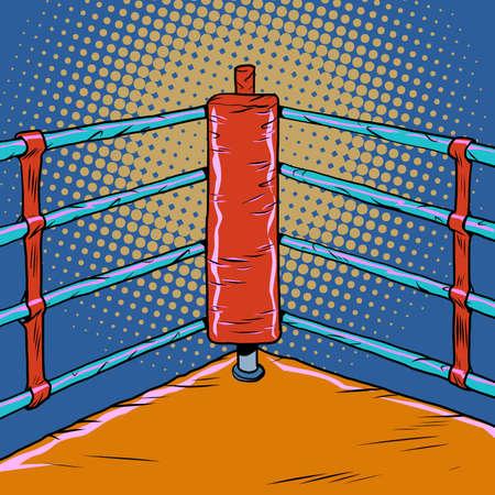 Red corner of the Boxing ring Zdjęcie Seryjne - 150726934