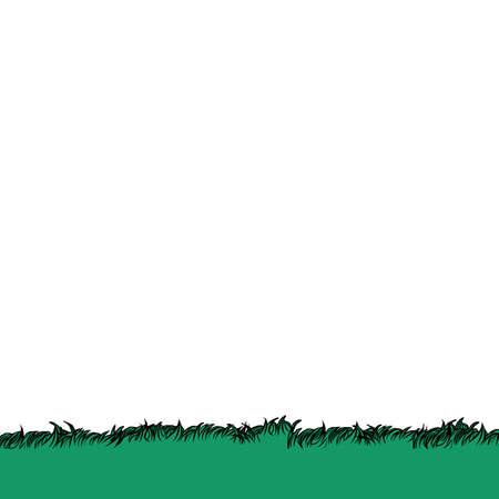 Green grass background. Pop art retro vector illustration kitsch vintage 50s 60s style Фото со стока - 151303295