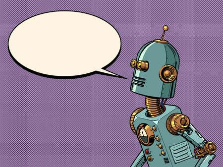Retro robot steampunk style