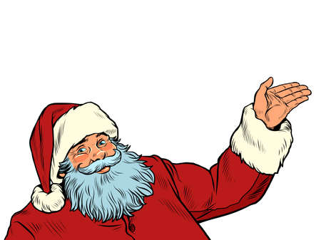 Santa Claus character isolate on a white background Ilustracja