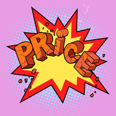 price word stylish label Illustration