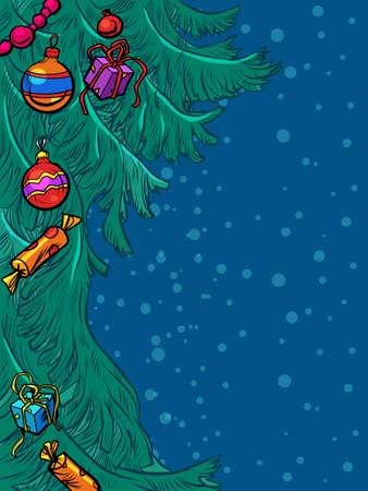 Christmas tree. New year background
