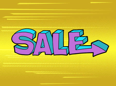 sale word pop art style