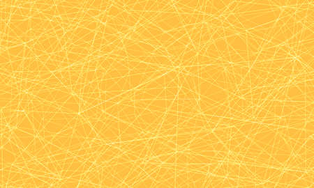 Yellow background with lines and strokes Ilustracja