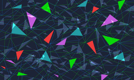 colored triangular background Ilustracja