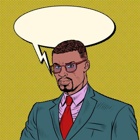 African businessman. A confident competent man Ilustração