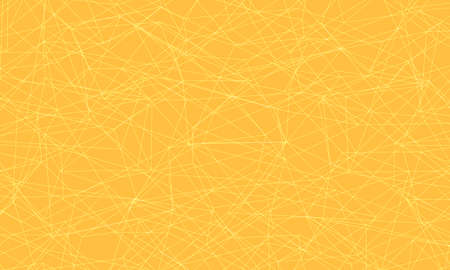 Yellow background with lines and strokes. Pop art retro vector illustration Illustration
