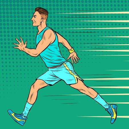 Runner male athlete. Sports and athletics. Marathon race