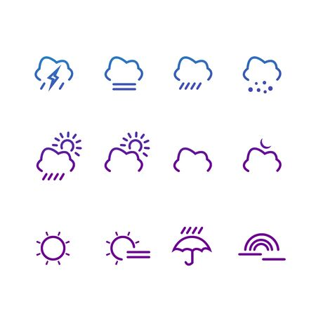 Vector Illustration Bundles Weather Icons