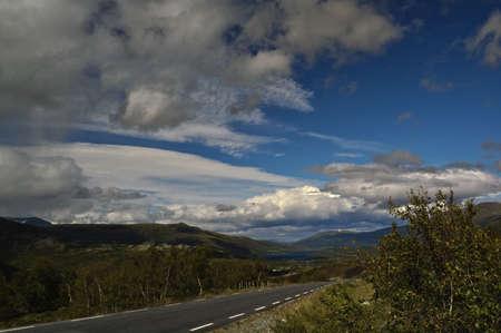 jotunheimen national park: Mountainlandscape from Jotunheimen at the edge of Jotunheimen National Park. Stock Photo