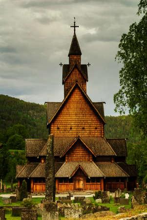 The historic Heddal stavechurch in Notodden, Telemark.