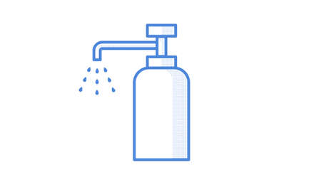 Simple vector illustration of disinfection bottle