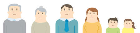 Family of simple vector illustration Illustration