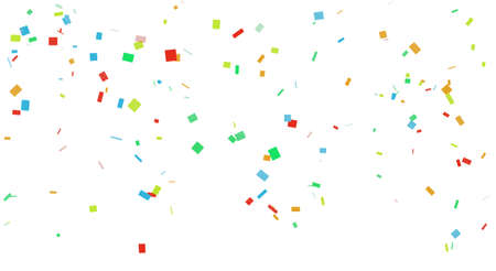 Colorful confetti background graphic material